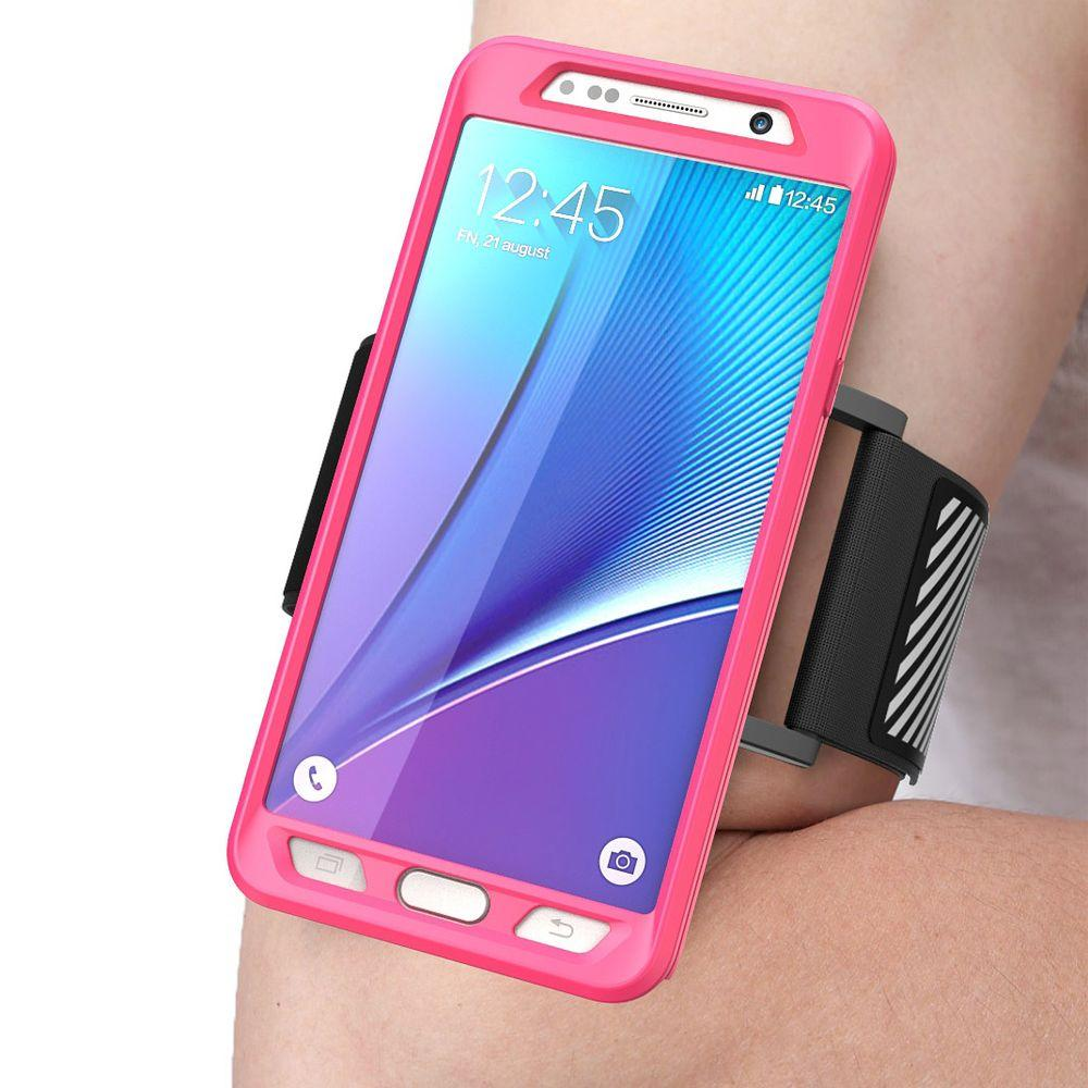 online store 81f63 be593 SUPCASE Galaxy Note 5 Flexible Sport Armband and Case Combo, Pink