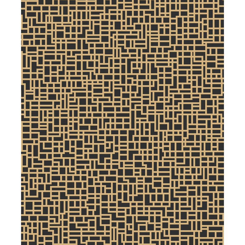 Satoni Black/Gold Wallpaper