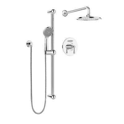 Belanger 1-Spray Hand Shower and Shower Head Combo Kit in Polished Chrome