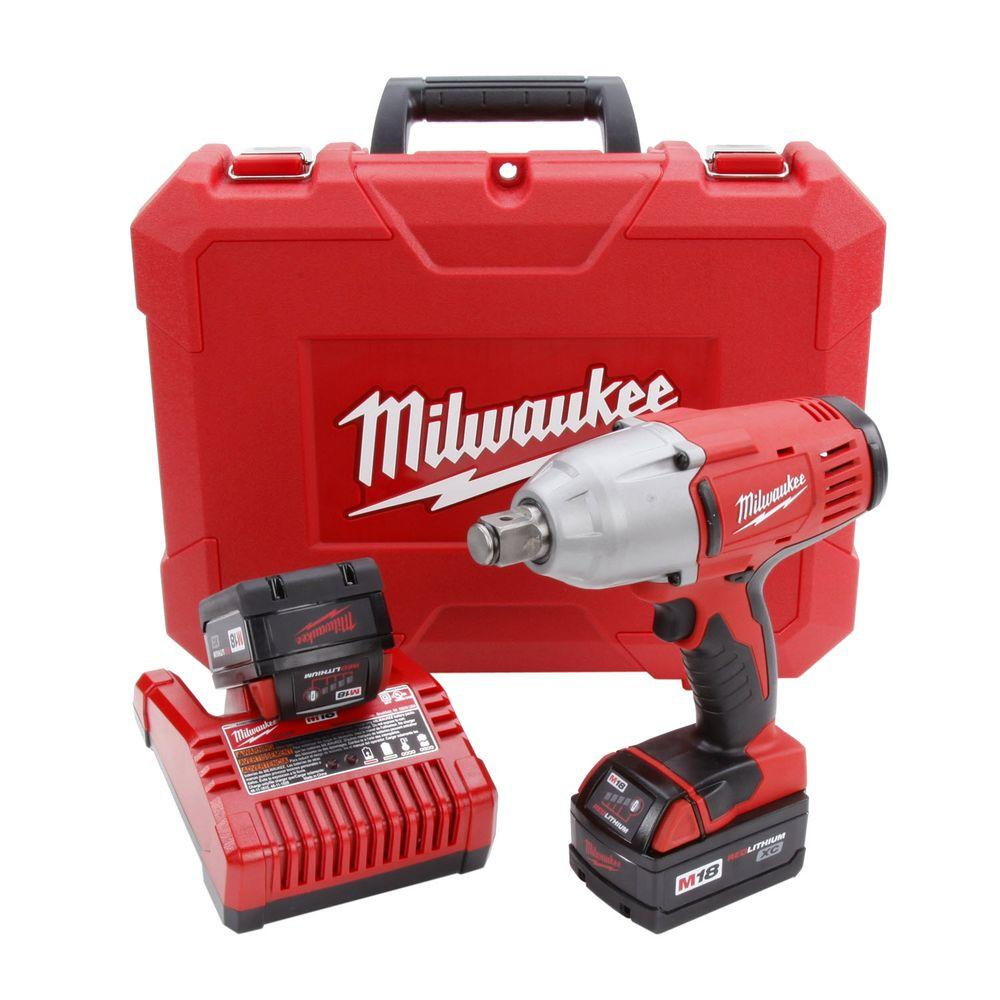 Milwaukee M18 18-Volt Lithium-Ion 3/4 in. Cordless High Torque Impact Wrench Kit
