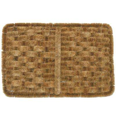 Shiraz Coco 16 in. x 24 in. Coir Outdoor Scraper Door Mat