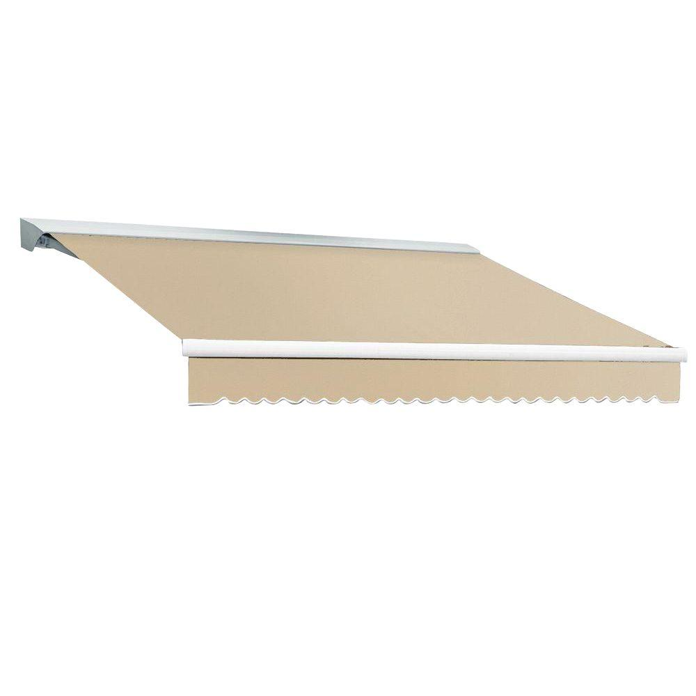 Beauty-Mark 12 ft. DESTIN EX Model Right Motor Retractable with Hood Awning (120 in. Projection) in Linen