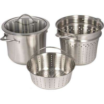 Contemporary 8 Qt. Stainless Multi-Pot