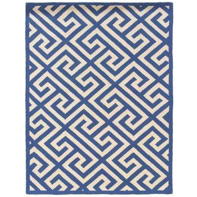 Silhouette Key Navy and White 5 ft. x 7 ft. Indoor Area Rug