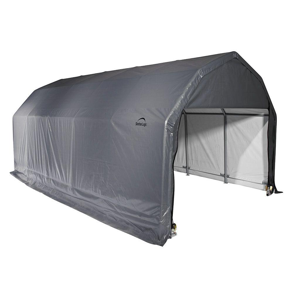 Shelterlogic 12 Ft X 20 Ft X 8 Ft Green Steel And
