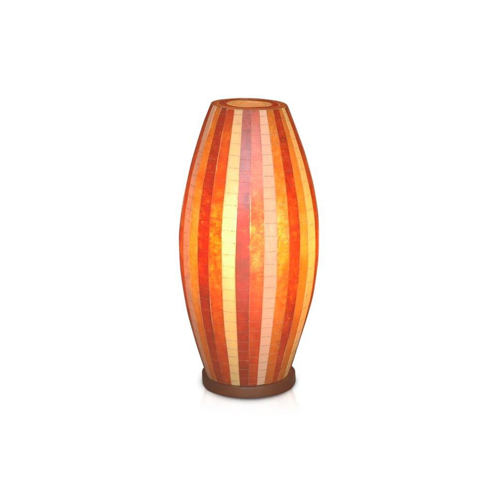 Jeffan Sedona 21 in. Brown, Orange, Red Multicolor Mosaic Table Lamp