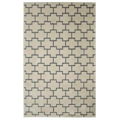 Block Out Cream 8 ft. x 10 ft. Area Rug