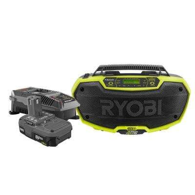 18-Volt ONE+ Lithium-Ion Hybrid Stereo with Bluetooth Technology with 1.5 Ah Compact Battery and Charger