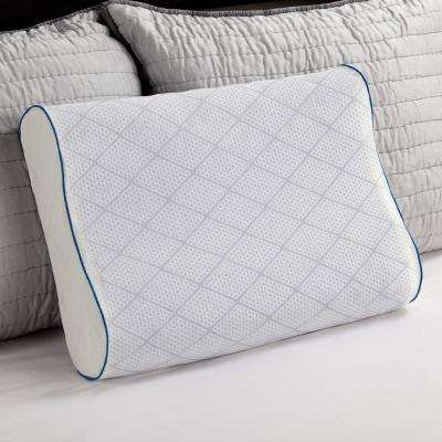 cooling gel and memory foam contour pillow