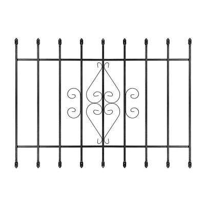 48 in. x 36 in. Su Casa Black 9-Bar Window Guard