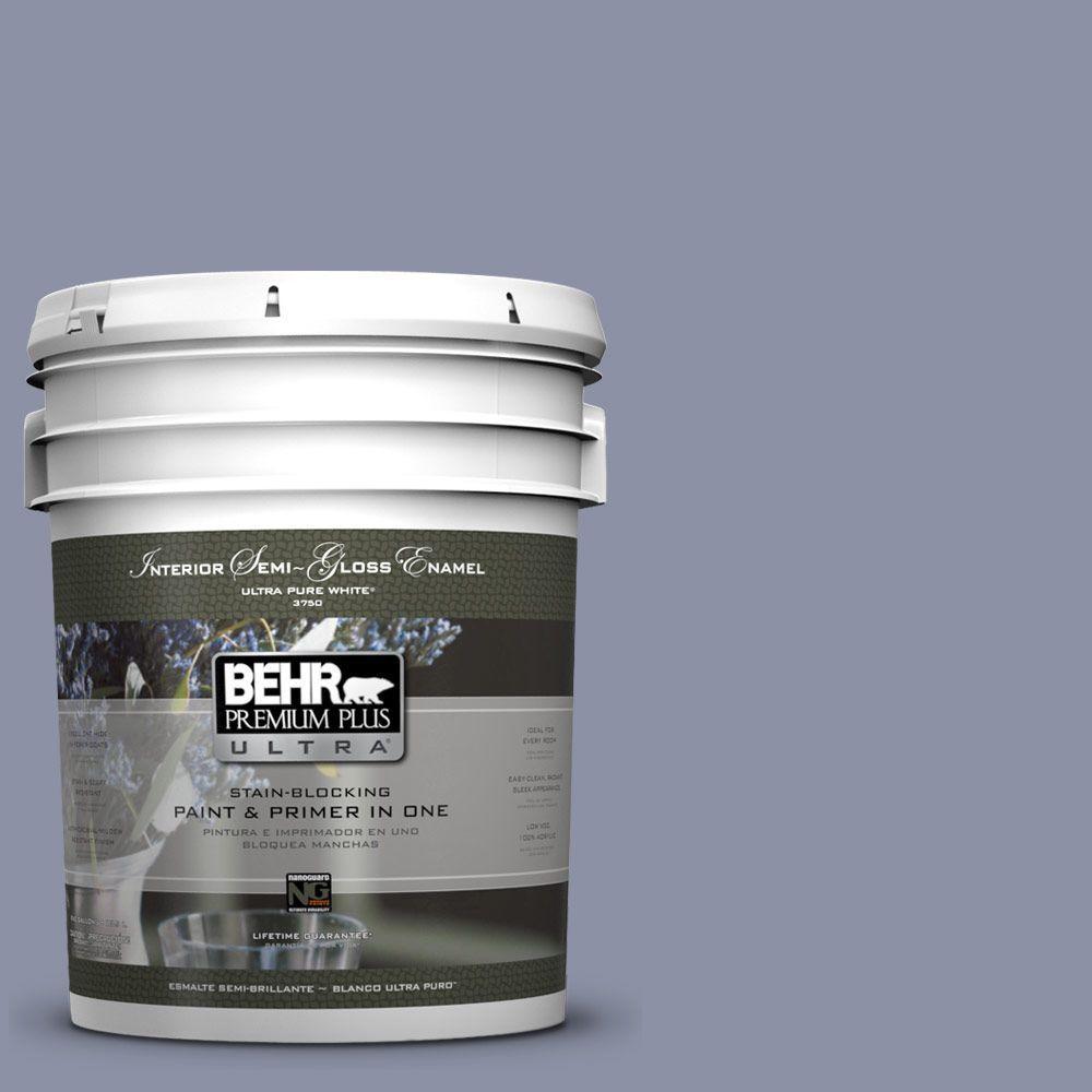 5-gal. #620F-4 Violet Shadow Semi-Gloss Enamel Interior Paint