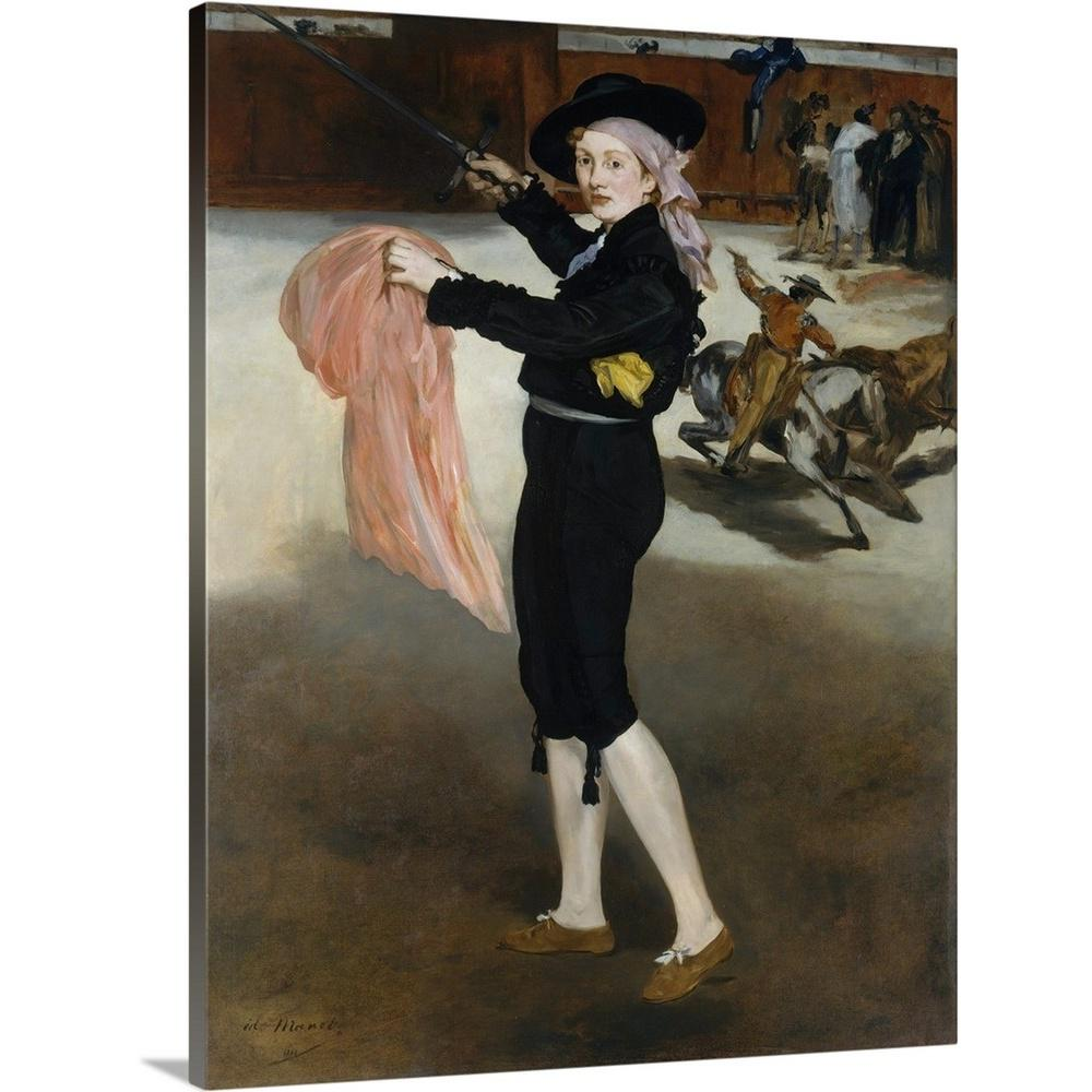 Mademoiselle v in the costume of an espada by edouard 1832 1883 manet canvas wall art