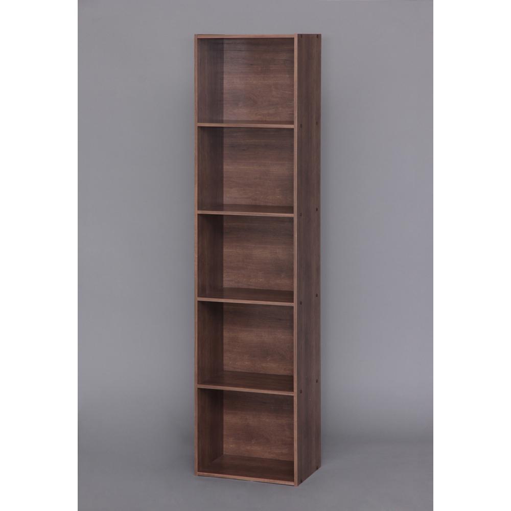 Yama Series Brown 5-Tier Shelf