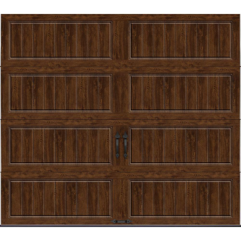 Clopay Gallery Collection 8 ft. x 7 ft. 18.4 R-Value Intellicore Insulated Solid Ultra-Grain Walnut Garage Door