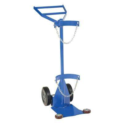 Deluxe Steel Cylinder Dolly with Hard Rubber Wheels