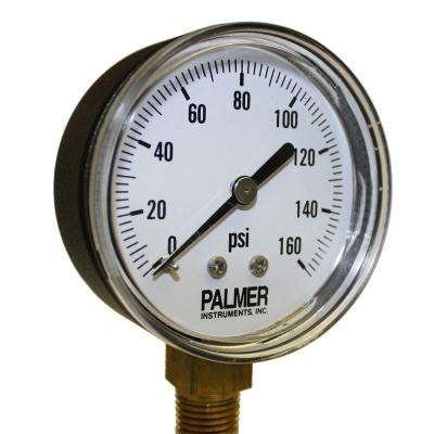2.5 in. Dial 160 psi Painted Steel Case Utility Gauge