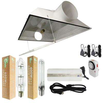 600-Watt HPS/MH Grow Light System with 6 in. Extra Large Air Cooled Hood Reflector