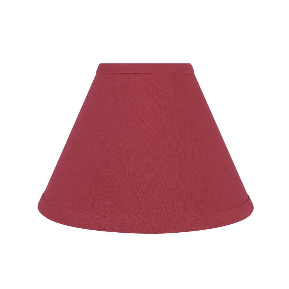 10 in. x 7 in. Red Hardback Empire Lamp Shade
