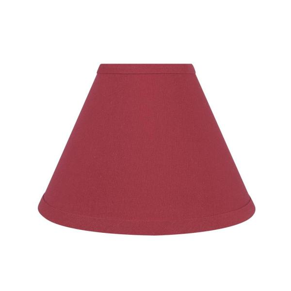 Aspen Creative Corporation 9 In X 6 1 2 In Red Hardback Empire Lamp Shade 58729 The Home Depot