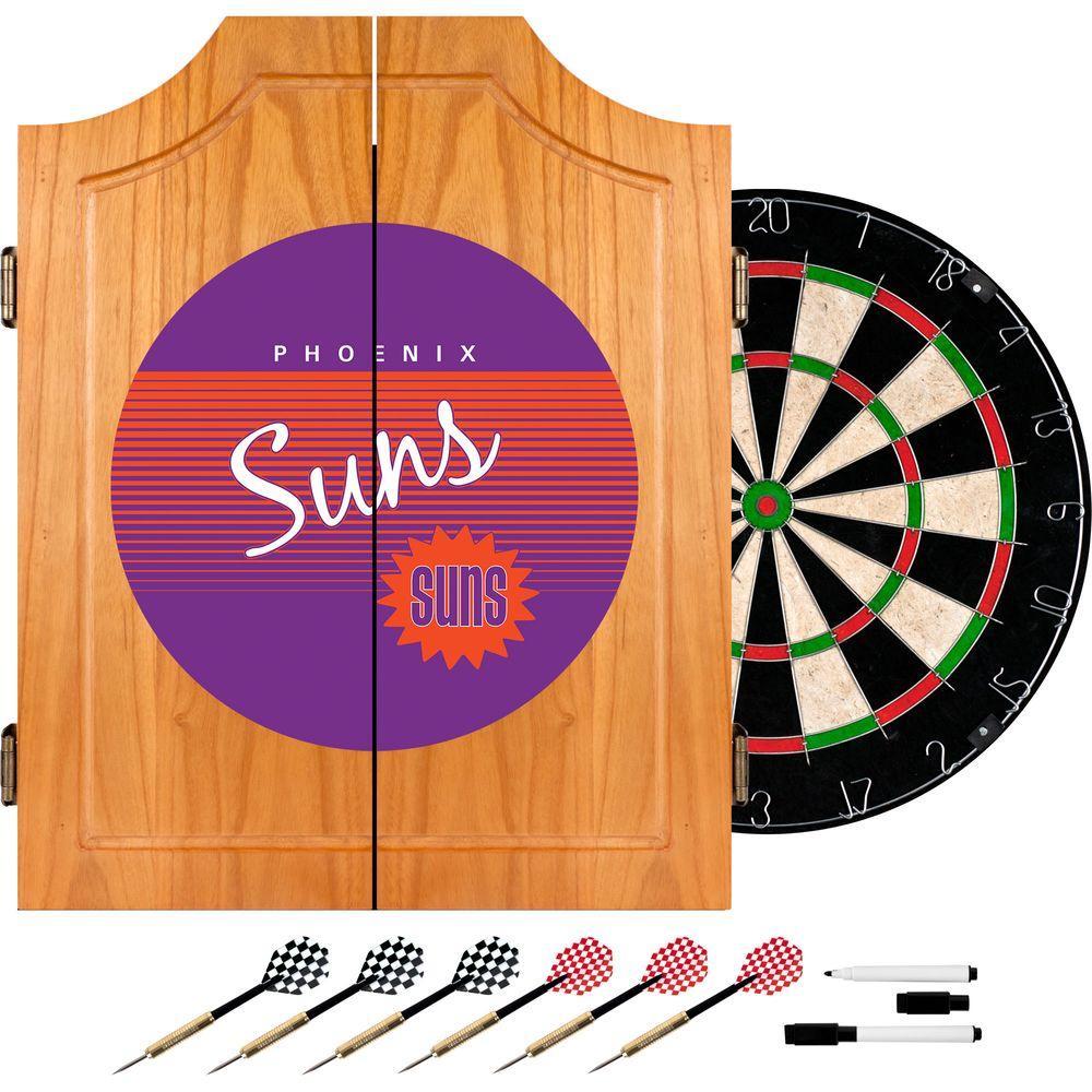 info for 76d0d 2f232 Trademark 20.5 in. Phoenix Suns Hardwood Classics NBA Wood Dart Cabinet Set