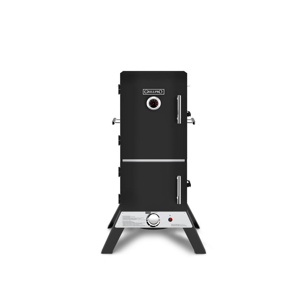 GrillPro 33 in. Vertical Propane Gas Cabinet Smoker