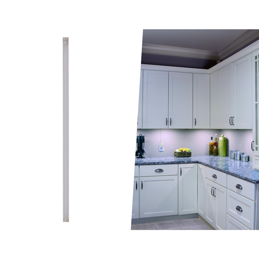 Black Decker 24 In Led Cool White 4000k Dimmable 1 Bar Under Cabinet Lights Kit With Hands Free On Off Tool Plug Install