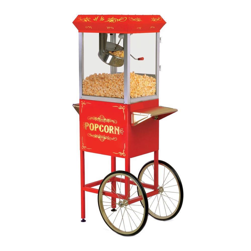 8 oz. Red Popcorn Trolley