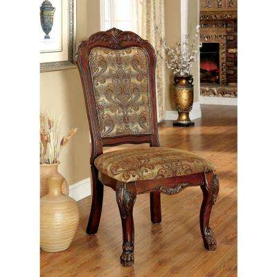 MEDIEVE Cherry Traditional Style Side Chair