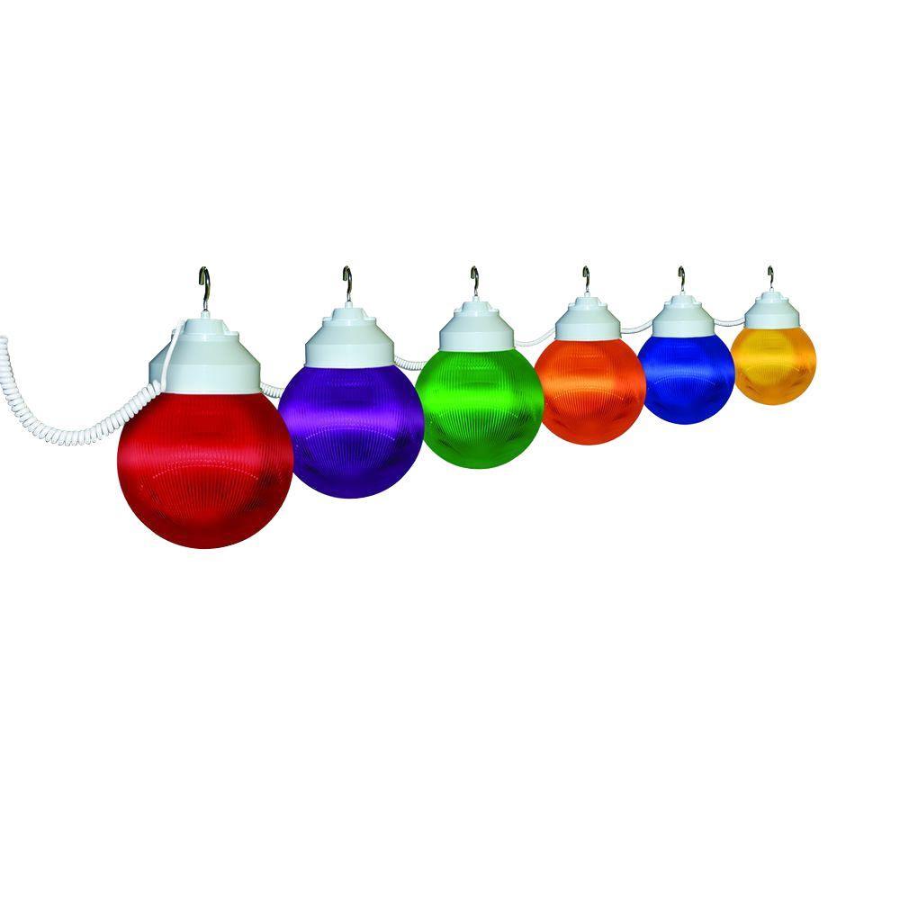 6-Light Outdoor Multi Color String Light Set