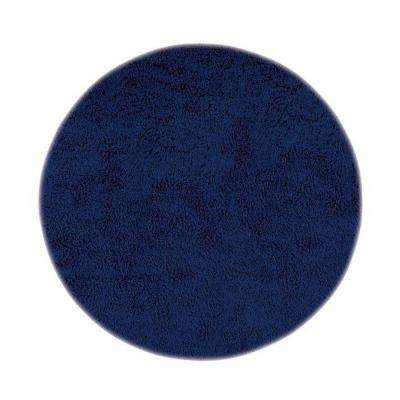 Ultimate Shag Blue 8 ft. x 8 ft. Round Area Rug