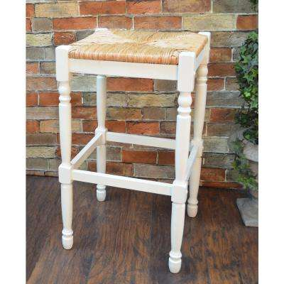 Hawthorne 29 in. Antique White Bar Stool