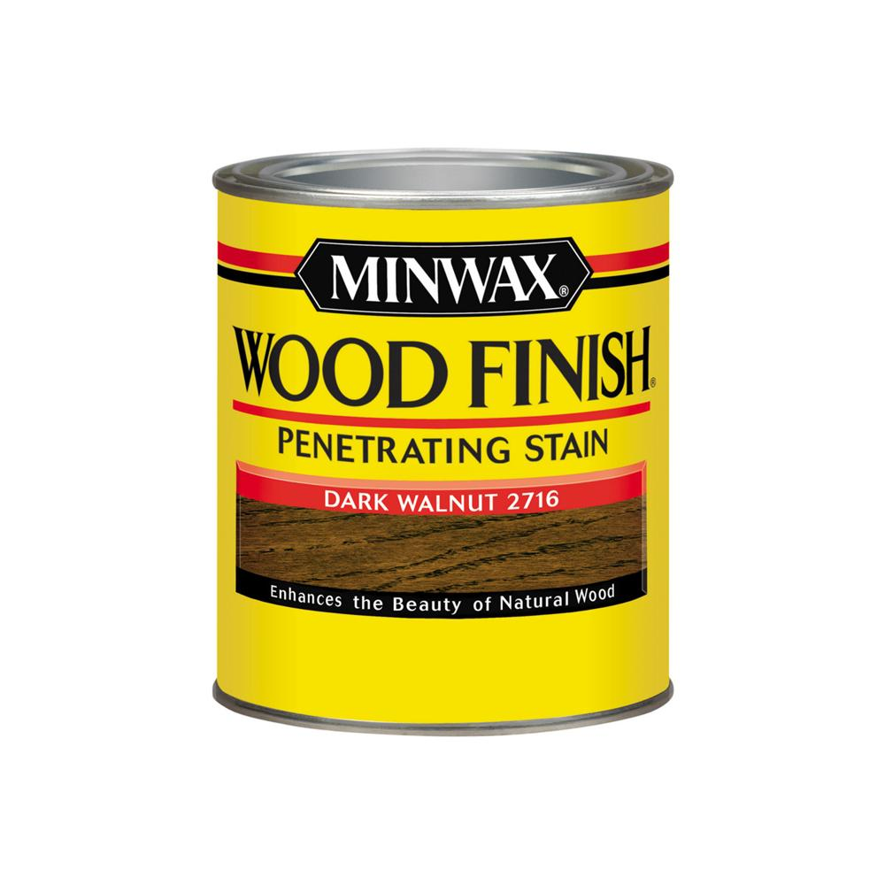 1 qt. Wood Finish Dark Walnut Oil Based Interior Stain (4-Pack)