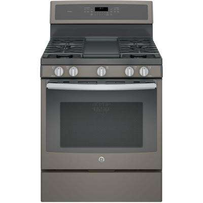 30 in. 5.6 cu. ft. Gas Range with Self-Cleaning Convection Oven in Slate