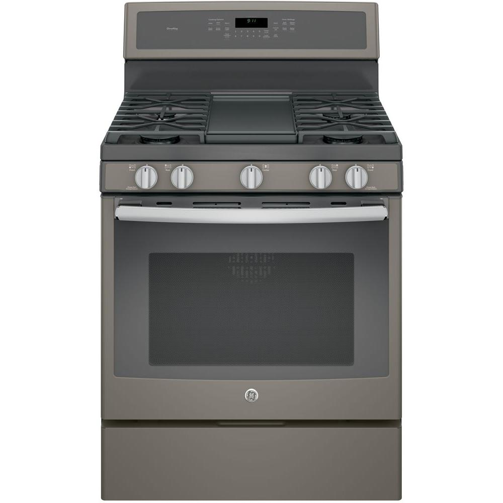ge profile 30 in 5 6 cu ft gas range with self cleaning rh homedepot com GE Spectra Electric Oven Manual ge profile oven self cleaning instructions manual