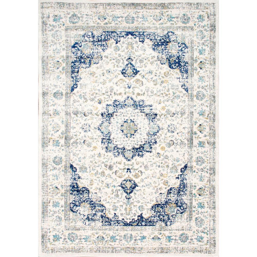 Verona Vintage Persian Blue 8 ft. x 11 ft. Area Rug