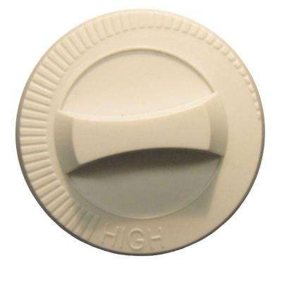 Com-Pak Plus/Com-Pak Twin Series Integral Thermostat Replacement Knob in Almond
