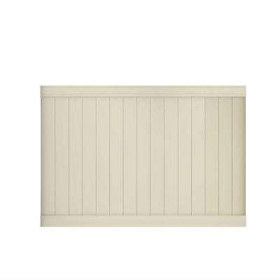 Pro Series 5 ft. H x 8 ft. W Vinyl Woodbridge Tan Unassembled Fence Panel