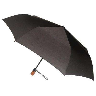 44 in. Arc Canopy 3 Sectional Telescopic Mini Auto Open Auto Close Umbrella in Black