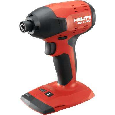 22-Volt Lithium-Ion 1/4 Hex Cordless SID 4-A Impact Driver Tool Body