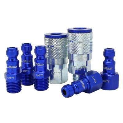ColorFit by Milton Coupler and Plug Kit - (T-Style Blue) - 1/4 in. NPT (7-Piece)