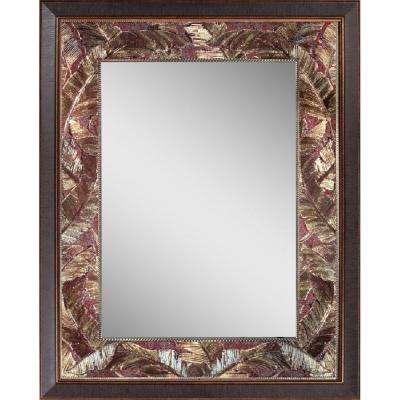 Tropical 27 in. x 35 in. Leaf Mirror in Bronze Copper