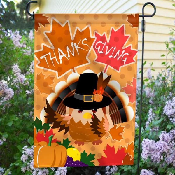 Anley 18 In X 12 5 In Happy Thanksgiving Day Decorative Harvest Festival Double Sided Garden Flags A Flag Garden Thxgivingd The Home Depot