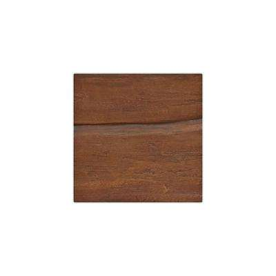 6 in. x 6 in. Riverwood Pecan Endurathane Faux Wood Ceiling Beam Material Sample