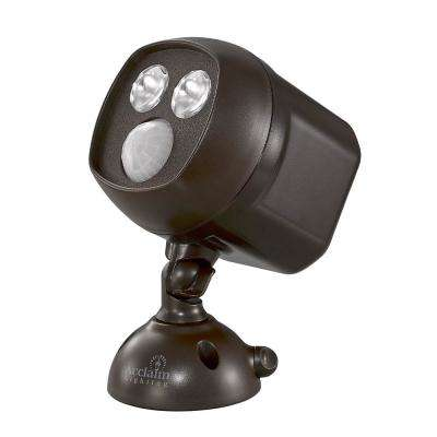 Battery Operated Bronze LED Mega Bright Spotlight