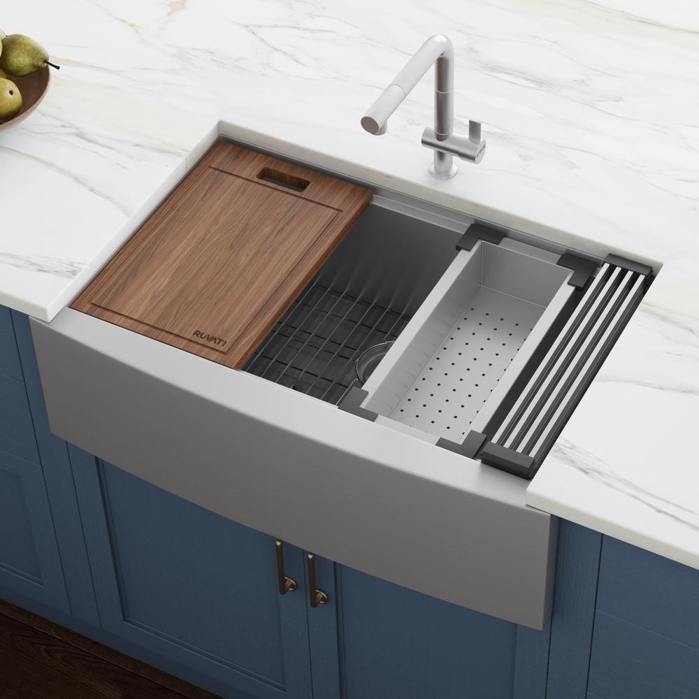 24 Farmhouse Kitchen Sinks Kitchen Sinks The Home Depot