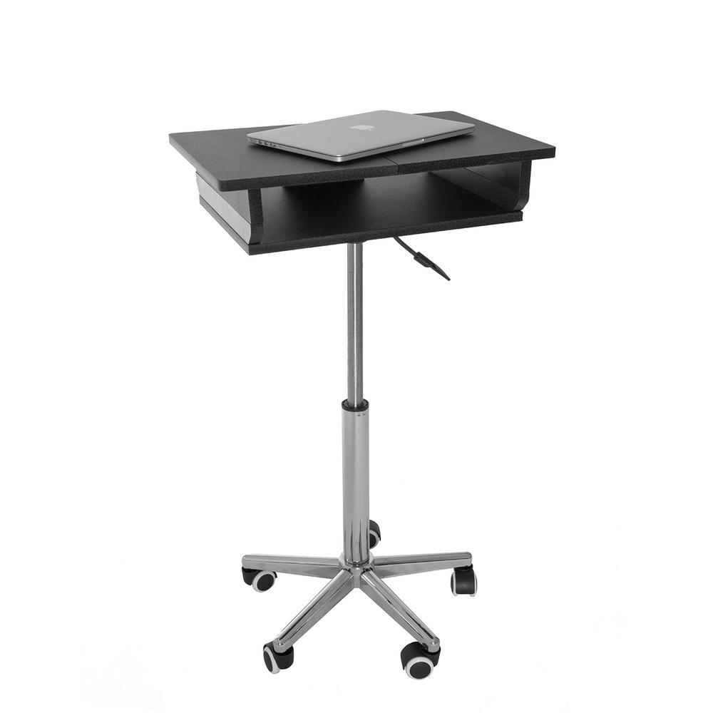 Delicieux Techni Mobili Graphite Folding Table Laptop Cart