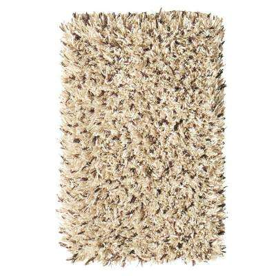 Ultimate Shag Cookies/Cream 3 ft. 6 in. x 5 ft. 6 in. Area Rug