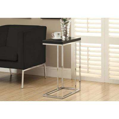 Glossy Black End Table