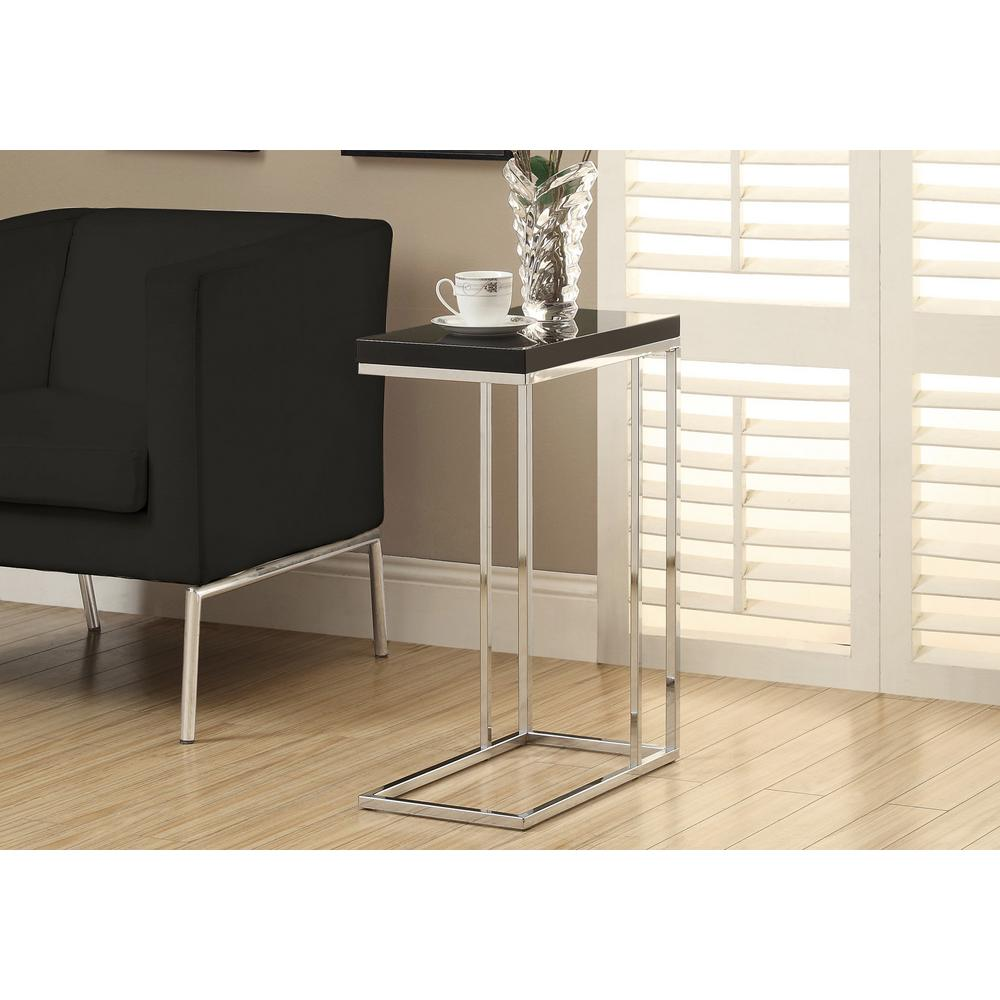 Monarch Specialties Glossy Black End Table