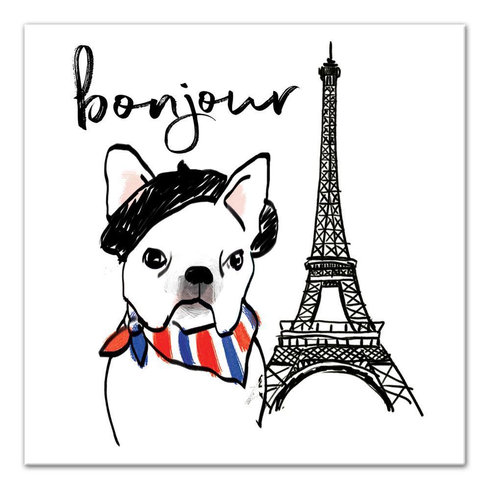 Designs direct 16 in x 16 in 39 39 bonjour frenchie dog for Direct from the designers